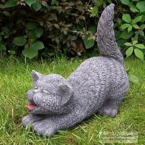 Statue Katze mit erhobenem Schweif Leal