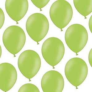 Kleenes Traumhandel 100 Luftballons - 23 cm - Pastell Hellgrün Helles Grün - Formstabil