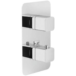 Nobili 2-Wege Thermostatmischer dusche Loop LP90102CR | glänzend verchromt - NOBILI RUBINETTERIE S.P.A