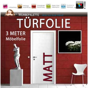 (EUR 4,73 / Quadratmeter) 3 M x 1,05 MeterTürfolie Möbelfolie MATT DEKORFOLIE Selbstklebend PREISTIP!