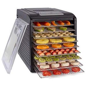 Vita5 Nobel Dörrautomat • Dörrgerät für Obst- Fleisch & Früchte • 9 Edelstahl Gitter • 19,5 St. Dörrzeit • Temperaturregelung (30-70ºC) + EXTRA: 3x Einlegematte, 1x Auffangblech