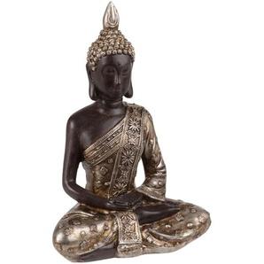 Buddha, schwarz und goldfarben H20