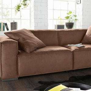 Bruno Banani XXL-Sofa, gelb, B/H/T: 260x45x65cm, hoher Sitzkomfort