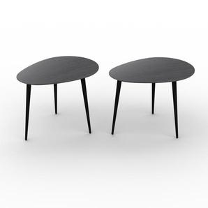 Couchtisch Schwarz - Eleganter Sofatisch: Beste Qualität, einzigartiges Design - 67/67 x 50/50 x 50/50 cm, Konfigurator