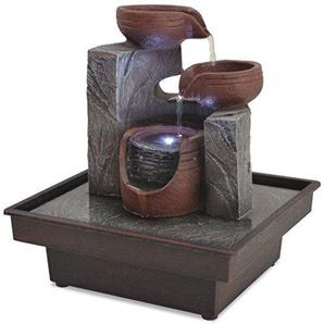 vidaXL Zimmerbrunnen mit LED Polyresin Zimmer Springbrunnen Wasserspiel Brunnen
