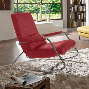 W.schillig Schaukelsessel »misterX«, rot, B/H/T: 67x46x55cm, hoher Sitzkomfort