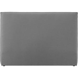 Design-Bettkopfteil 160 aus hellgrauem Stoff ATHENA