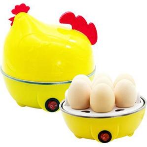 Teaio Eierkocher Autmatisch 1-7/14 Eier Eierkocher Abschaltautomatik Egg Cooker Kunststoff+Edelstahl Einschicht/Doppelschichte Mini-Eierkocher Küchegerät, 220V/350W
