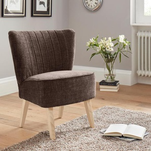 Benformato City Collection Sessel, braun, B/H/T: 64x48x45cm, hoher Sitzkomfort