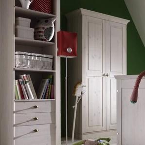 INFANSKIDS X-Line Babyzimmer Kleiderschrank 3-türig laugenfarbig