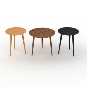 Couchtisch Wenge, Holz - Eleganter Sofatisch: Beste Qualität, einzigartiges Design - 40/50/40 x 47/44/47 x 40/50/40 cm, Konfigurator