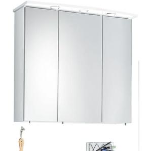 MASANO Spiegelschrank BACOLI Korpus Weiß Glanz ca. 75 x 72 x 20 cm
