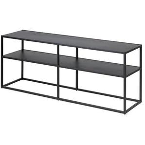 Sideboard mit 2 Ebenen, Metall, B:120cm x H:46cm, schwarz