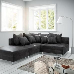 Ecksofa Clovis Anthrazit Antik Optik Hocker Ottomane Links Modulsofa, Design Ecksofas, Couch Loft, Modulsofa, modular