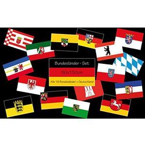 ALLE 16 Bundesländer-Flaggen im Set + Deutschland! 90x150cm