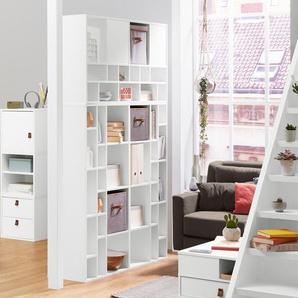 Vario-Raumteiler – Standregal - weiß - Holz -