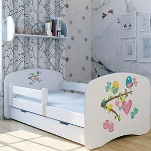 Funktionsbett Vögel mit Matratze und Schublade
