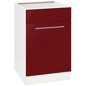 wiho Küchen Spülenschrank »Flexi2« Breite 50 cm, rot