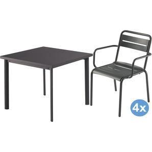 Emu Star Gartenset 90x90 Tisch + 4 Stühle (Armchair)