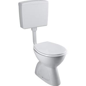 CMI Stand-WC-Set Tiefspüler Weiß Abgang senkrecht