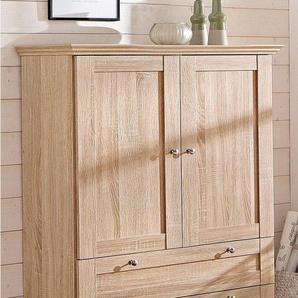 Home affaire Mehrzweckschrank »Binz« erstrahlt in schöner Holz-Optik, mit vielen Stauraummöglichkeiten, Höhe 130 cm, beige