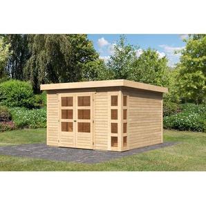 Karibu Holz-Gartenhaus/Gerätehaus Sölve 6 Natur  BxT: 298 cm x 302 cm