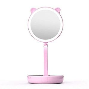 HZP LED Licht Füllen Spiegel 7 Mal Vergrößerung wiederaufladbare trockene Batterie Dual-Use Falte und Eitelkeit Spiegel Haushalt Badezimmer Schreibtisch