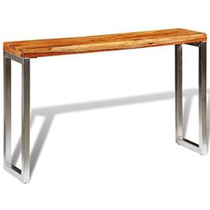 vidaXL Konsolentisch Sideboard Flurtisch 3 Schubladen 80 cm Massivholz Sheesham