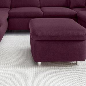 Places Of Style Polsterhocker, lila, FSC®-zertifiziert