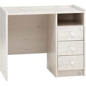 Molly Kids Schreibtisch 3 Schubladen und 1 Ablage weiss gewachst 04-2900770013001N - PKLINE