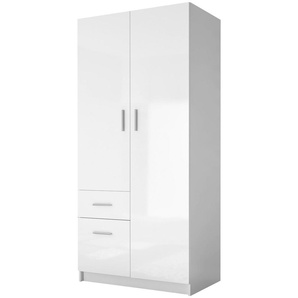 Carryhome: Drehtürenschrank, Weiß, B/H/T 90 195 55,4