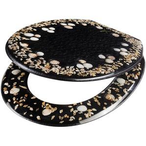 WC-Sitz »Muscheln«, aus Polyresin mit eingelegten Meeresmotiven