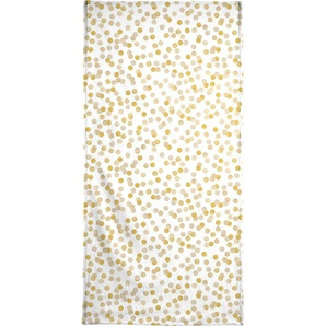 Handtuch »Gold Confetti«, Juniqe, Weiche Frottee-Veloursqualität