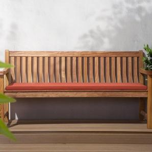 Gartenbank Holz 180 cm mit Auflage terracotta JAVA