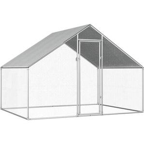 Outdoor-Hühnerkäfig 2,75x2x2 m Verzinkter Stahl - VIDAXL