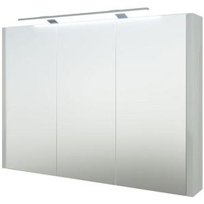 Bad - Spiegelschrank Bidar 22, Farbe: Weiß glänzend – 65 x 90 x 12 cm (H x B x T)