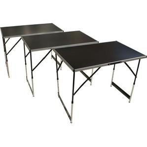 Tapezier- und Arbeitstisch, 3-teilig, höhenverstellbar, Mehrzwecktisch - BEACH & POOL