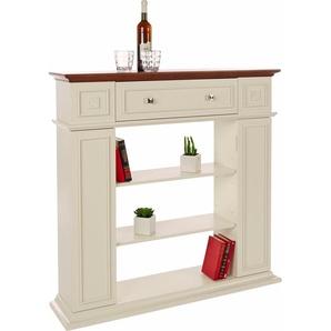 Home affaire Deko-Kaminumbau mit Schublade und 2 Türen, weiß, FSC-Zertifikat, , , FSC®-zertifiziert
