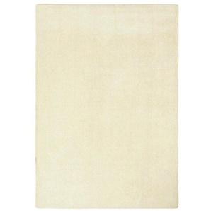 Hochflorteppich uni Farben, weiß, Gr. 90/160 cm,  home, Material: Schurwolle
