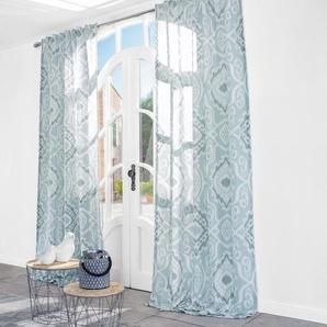 Vorhang Folie Douce - 1 Stück, 128 x 315 cm - Hellblau