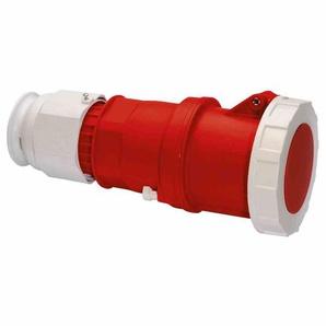 BALS MULTI-GRIP CEE-Kupplung, 5p, 125A, IP67, 400V (50+60Hz) rot, 6h, Schraubklemme, gerade, Kunststoff, Verschraubung