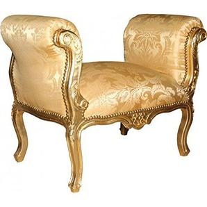 Casa Padrino Barock Schemel Hocker Gold Barock Muster/Gold - Sitzbank