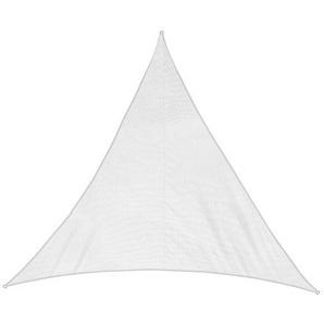 Jarolift Sonnensegel Dreieck wasserabweisend, 500 x 500 x 500 cm, cremeweiß