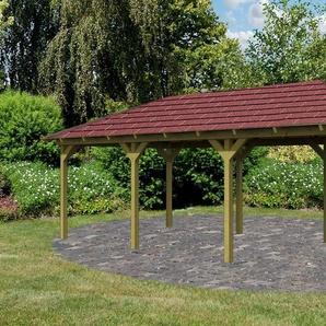 KARIBU Holzpavillon »Mailand 1«, BxT: 345x485 cm