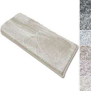 casa pura Stufenmatten Sundae   viele Varianten   Treppenteppich mit kuschlig weichem Flor   kombinierbar mit passenden Läufern   Creme - Rechteckig - 1 Stück