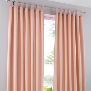 Microfaser Vorhang einfarbig (2er Pack) rosa