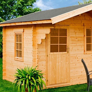 LUOMAN Gartenhaus »Lillevilla 277«, BxT: 350x449 cm, inkl. Vordach und Fußboden