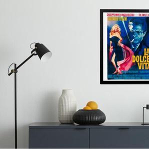 La Dolce Vita Vintage Film, gerahmter Kunstdruck (50 x 40 cm), Mehrfarbig
