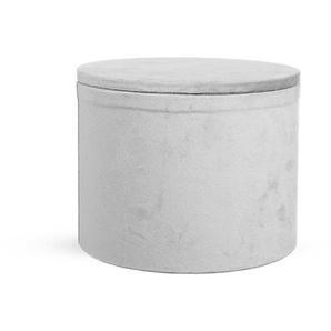 Box Samt, D:20cm x H:16cm, grau