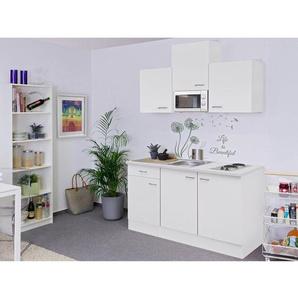 Flex-Well Classic Singleküche Wito 150 cm breit Weiß